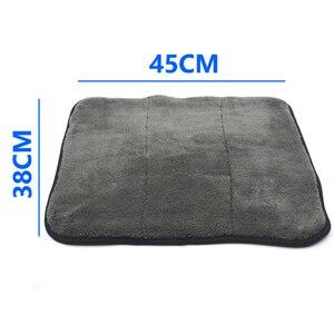 Image 5 - Chiffons de nettoyage de voiture en Microfibre, peluche Super épaisse, 3 pièces, 45cm x 38cm, 800 g/m², soins de voiture, cire Microfibre, polissage des détails, serviettes douces