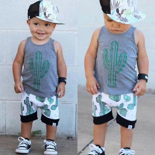 Boys Summer Tops /& Shorts Sets Toddler Baby Boys Sleeveless Shirts Vest and Casual Shorts 2Pcs Clothes Outfits