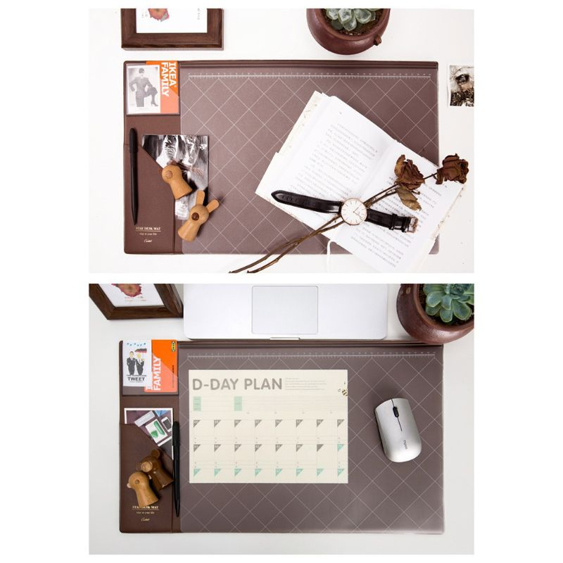 Multifunction Mouse Desk Pad Mat Office Waterproof Non Slip Computer Accessories