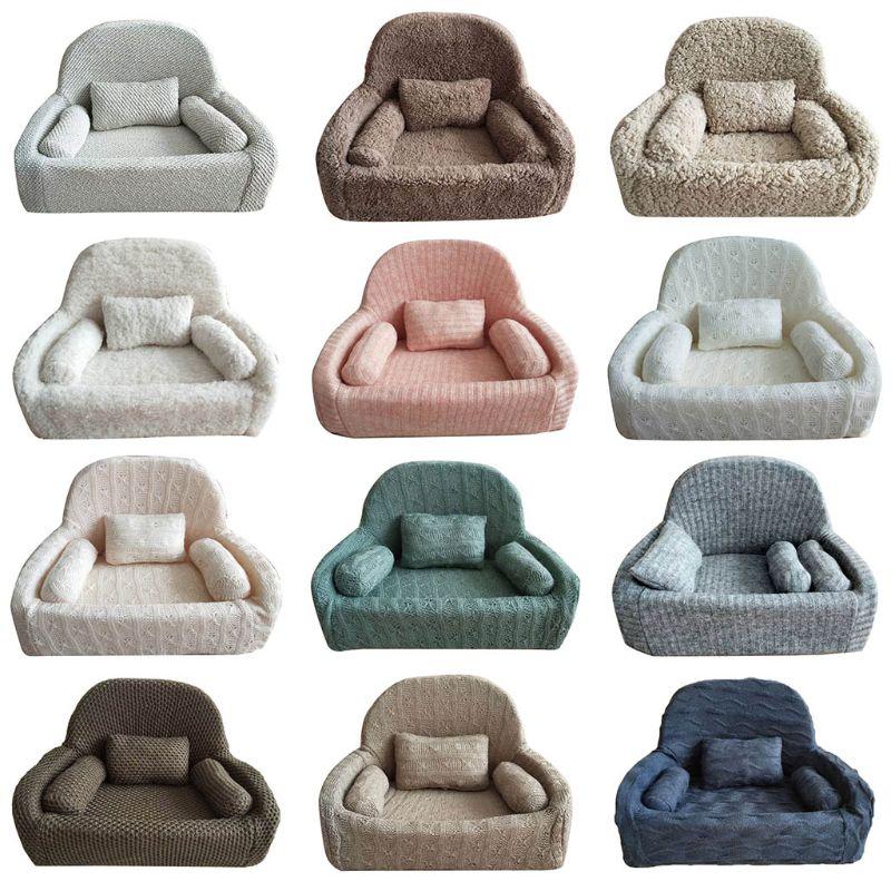 4 Pcs/set Newborn Photography Props Baby Posing Sofa Pillow Set Chair Decoration