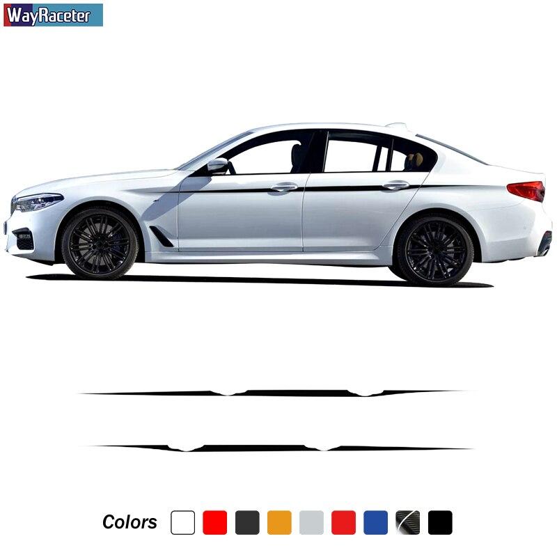 2 X M производительность боковые полосы наклейка линия талии наклейка для BMW F20 F22 F23 F30 F32 F33 F10 G30 F48 F25 F26 F15 F16 аксессуары