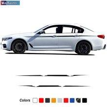 2 X M эффективные боковые полосы, наклейка на талию, наклейка для BMW F20, F22, F23, F30, F32, F33, F10, G30, F48, F25, F26, F15, F16, аксессуары