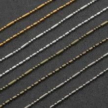 1/5 mètres 1.5mm or argent Rhodium couleur métal boule ronde perles chaînes en vrac chaînes à maillons pour collier à faire soi-même Bracelet fabrication de bijoux