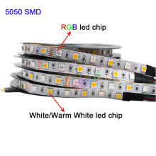 5m RGBW RGBWW RGB+CCT LED Strip light,DC12V 24V RGB +( White/Warm White) SMD 5050 Flexible led lamp tape цена в Москве и Питере