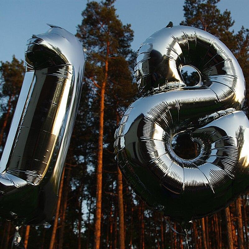 40Inch Grote Folie Verjaardag Ballonnen Grote Cijfers Globos Helium Nummer Ballon 0-9 Gelukkige Verjaardag Partij Decoratie Baby douche