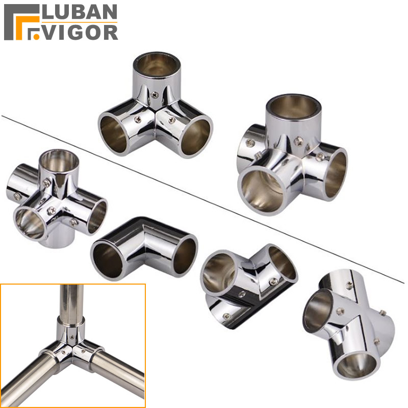 Alloy Connector For Stainless Steel Tube/pipe, 25mm Diameter Tube,Movable Fastening,Clothes Rack Display Rack Connector Fittings