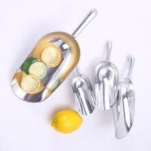 De acero inoxidable raspador de hielo alimentos dulces bufete Bar bolas pala cocina Gadgets y accesorios cucharada de azúcar
