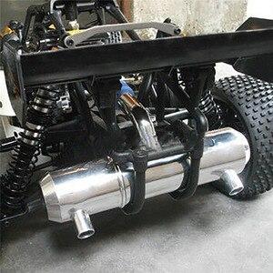 Para hpi 5b 5 t 5sc km rovan baja buggy tubo de escape substituição do caminhão metal twin tuned atualização parte