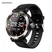 SENBONO 2020 Sport IP68 Pantalla de reloj inteligente a prueba de agua, reloj táctil para hombres, reloj para mujeres, rastreador de Fitness, reloj inteligente para IOS y Android