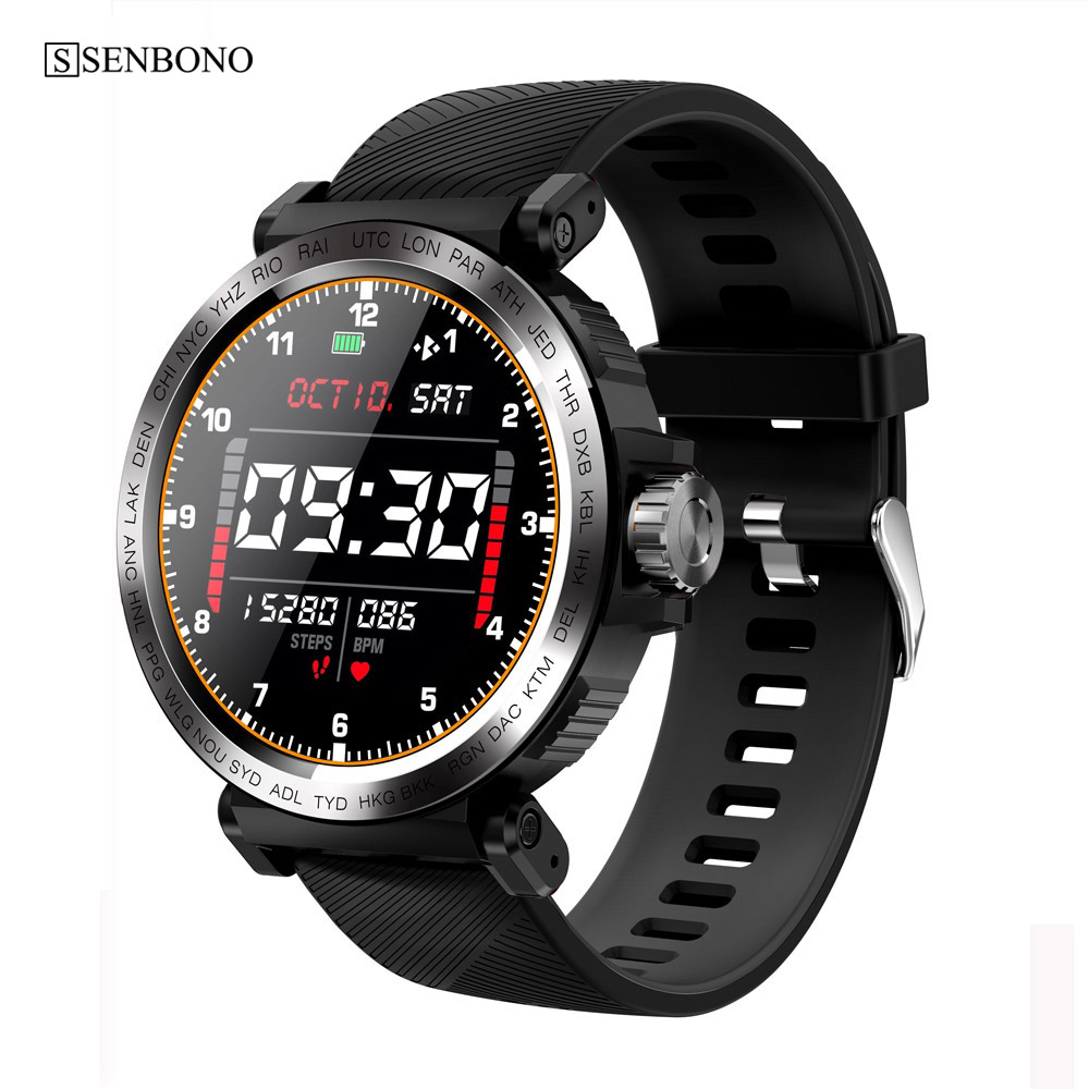 SENBONO 2020 Sport IP68 Waterproof Smart Watch Screen Touch Men Clock Women Fitness Tracker Smartwatch for IOS Android|Smart Watches| - AliExpress