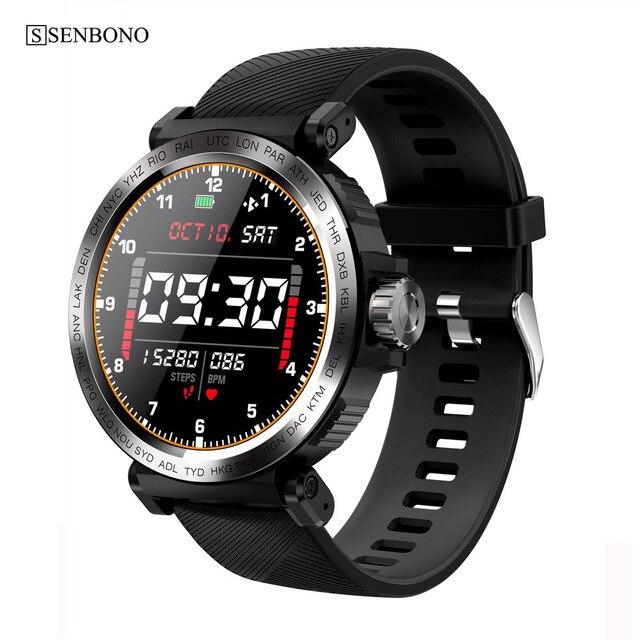 SENBONO 2020 Sport IP68 Waterproof Smart Watch Screen Touch Men Clock Women Fitness Tracker Smartwatch for IOS Android