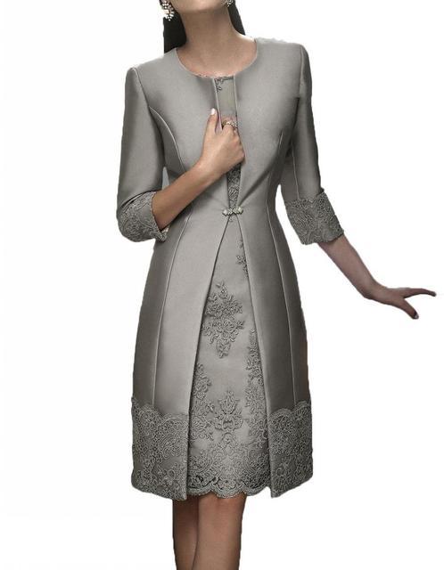 Elegant Short Mother Formal Wear With Jacket  1
