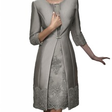 Suit-Gown Jacket Short Guest-Dresses Formal-Wear Mother-Of-The-Bride-Dress Wedding Party