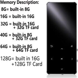 Image 5 - الأصلي المعادن بلوتوث MP4 لاعب 8GB 16GB 32GB 64GB الموسيقى لاعب لمس مفتاح fm راديو تشغيل الفيديو الكتاب الإلكتروني ايفي لاعب كمان