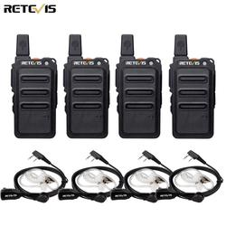 RETEVIS RT19/RT619 Walkie Talkie 4PCS PMR Radio FRS/PMR446 VOX Scrambler Frequency Hopping Two Way Radio Transceiver Comunicador
