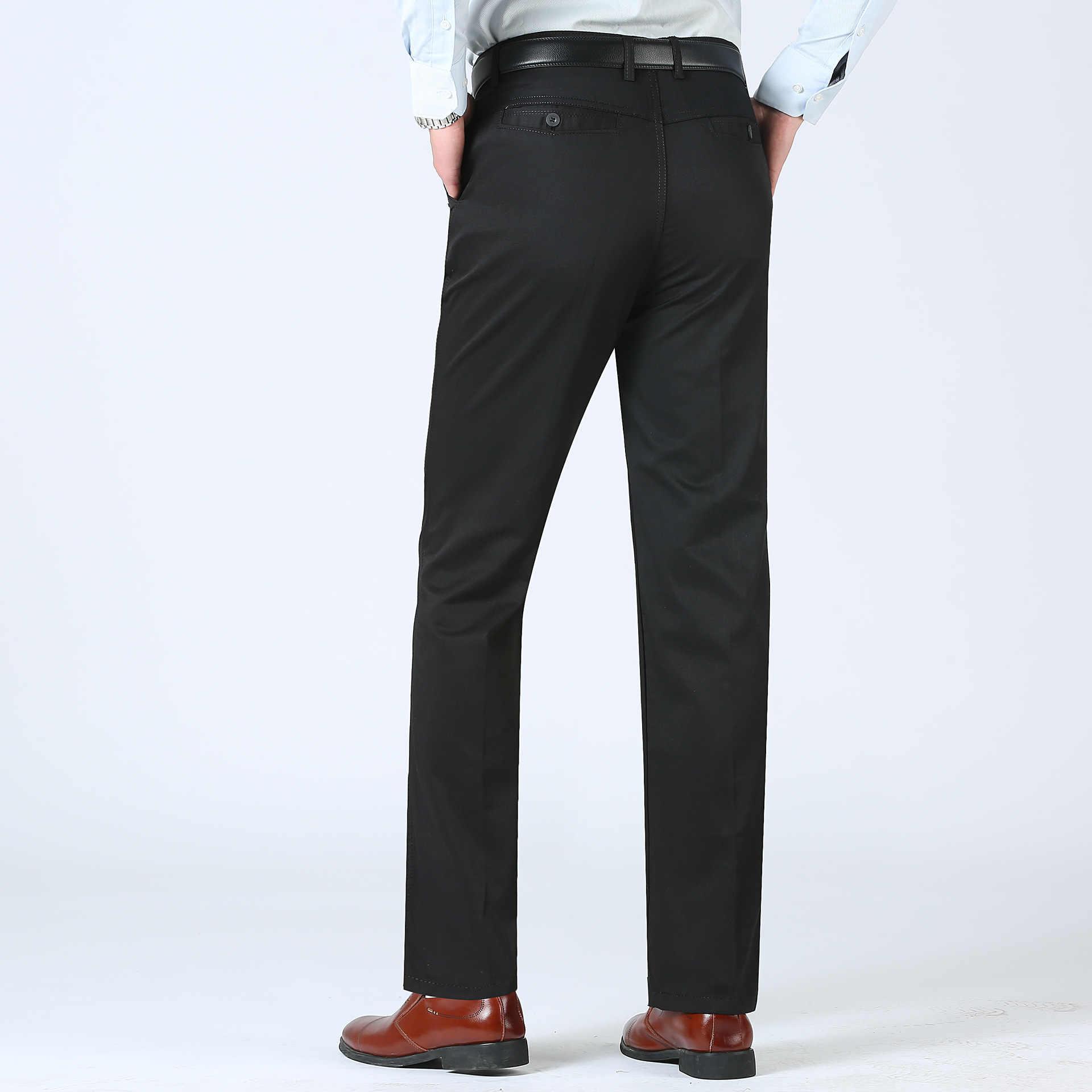 MRMT 2020 브랜드 여름 남성 바지 얇은 캐주얼 느슨한 솔리드 컬러 중년 높은 허리 바지 남성 긴 바지에 대 한