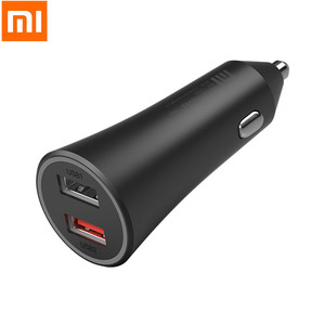 Image 1 - Newest xiaomi 車の充電器 37 ワット高速充電版デュアル usb led ライトヒント iphone の huawei 社 xiaomi スマートフォン