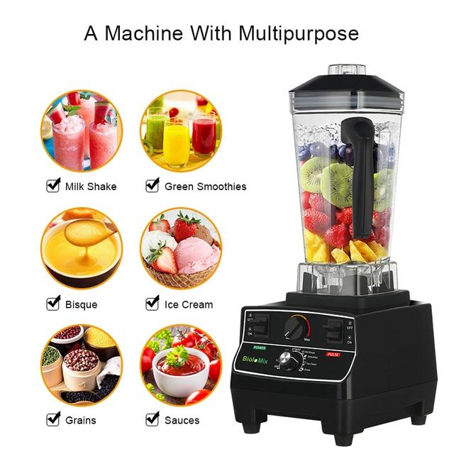 BPA Free 2L Jar 2200W Professional Smart Timer Pre-programed Blender Mixer Juicer Food Processor Ice Smoothies Crusher 1