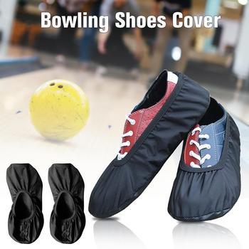 Wysokiej jakości czarny elastyczna tkanina sportowe kręgle buta suwak pokrywa akcesoria zamienne do gry w kręgle buty sportowe pokrywa kula do kręgli 4 tanie i dobre opinie keptfeet Other Summer2016 Shoe Covers Bowling Sports Shoe Covers
