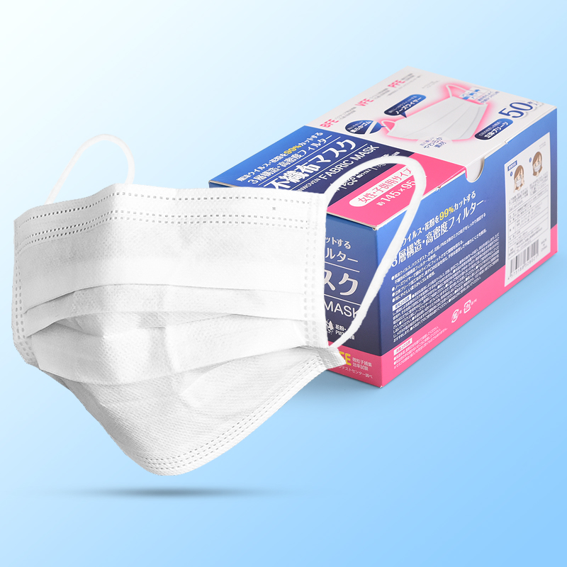 Japan White Protection Masks Disposable Women Prevent Breathe 3-floors Filter Face Mouth Mask Office Safety Outdoor Masks