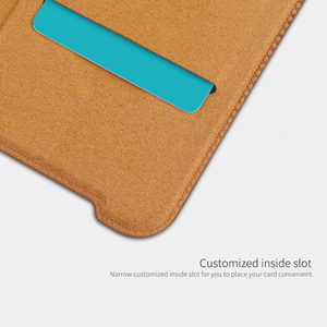 Image 4 - For Oneplus 7T Pro Flip Case NILLKIN QIN Flip Leather Cover For Oneplus 7T Case wallet Phone Case with Card Pocket