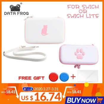 Bolsa de almacenamiento de pata de rana de datos para Nintendo Switch/Switch Lite Console estuche portátil de transporte para accesorios de juego NS Lite