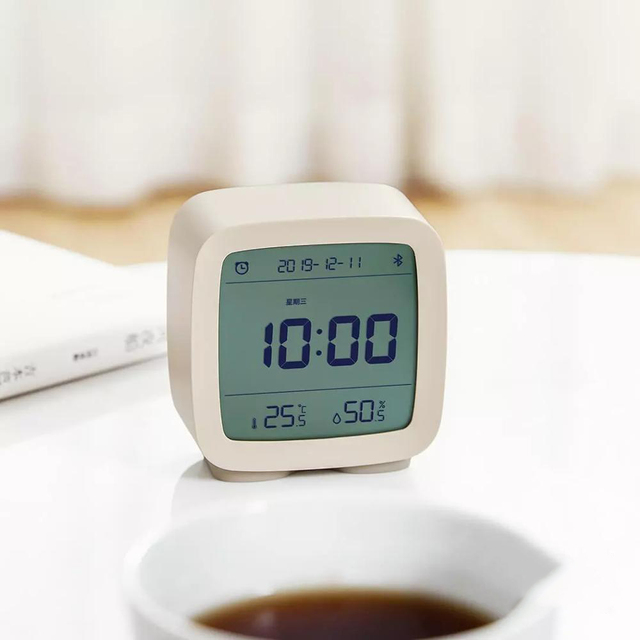 In stock Qingping Bluetooth Temperature Humidity Sensor Night Light LCD Alarm Clock Mihome App control Thermometer 1