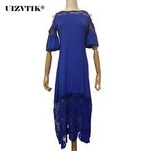 Женское длинное платье с открытыми плечами повседневное облегающее