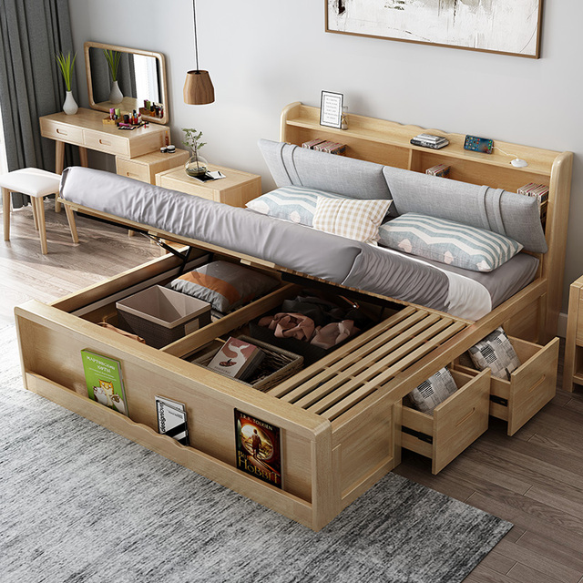 غرفة نوم الخشب الصلب مفروشات