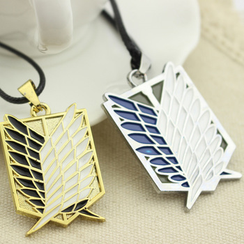 Anime Attack on Titan Wings of Freedom Necklace for Women Men Investigation Team Scouting Legion Necklaces for Teen Girls image