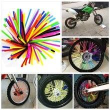 72pcs 24cm Motocross Offroad Dirt Bike ATV Wheel Rim Spoke Wraps Skins Cover Sucker Protector Decorative 12