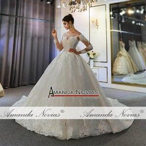 Image 5 - Szata mariage femme 2020 pełna koronkowa suknia ślubna suknie ślubne dla panny młodej