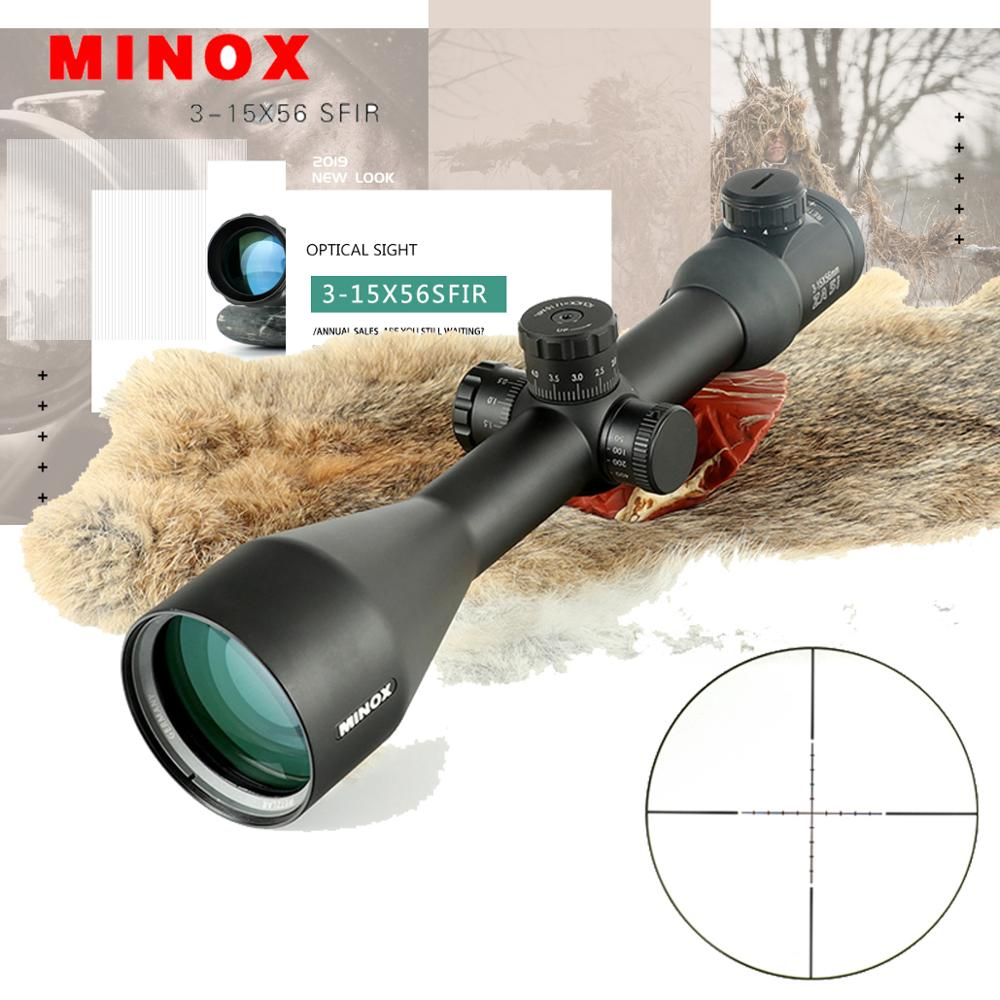 MINOX 3-15X56SFIR Riflescope ZASI Red Dot Reticle Optics Hunting Scope Tactical Target Telescope Riflescopes Sniper Scopes