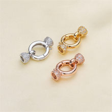 Wholesale Superior Quality Metal Zircon Silver/Gold/Rose Gold Clasps Hooks For Bracelet Necklace Connectors DIY Jewelry Making K033(China)