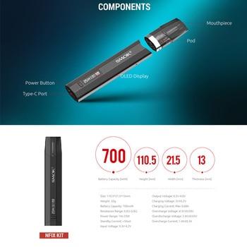 SMOK – Kit de stylo vapoteur Nfix Pod, batterie 700mAh et capacité de 3ml, dosette MTL DC 0.8, cartouche Nfix Pod VS Caliburn/Infinix 2