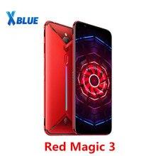 """Celular nubia red magic 3 versão europeia, smartphone com tela 6.65 """", snapdragon 855, identificação de digitais, câmera frontal de 48mp, câmera traseira de 16mp, 8gb, 128 telefone do jogo gb 5000mah"""