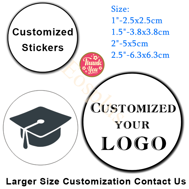Custom Stickers LOGO Commemorati Stickers Design Personalized Label For Birthday/invitation/gift Box Stickers Photos Mark 100pcs