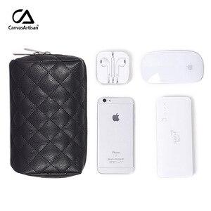 Image 4 - Nouveau sac de rangement numérique, étui organisateur de voyage pour accessoires chargeur câble de banque dalimentation écouteurs USB, fermeture éclair Portable, L19 51