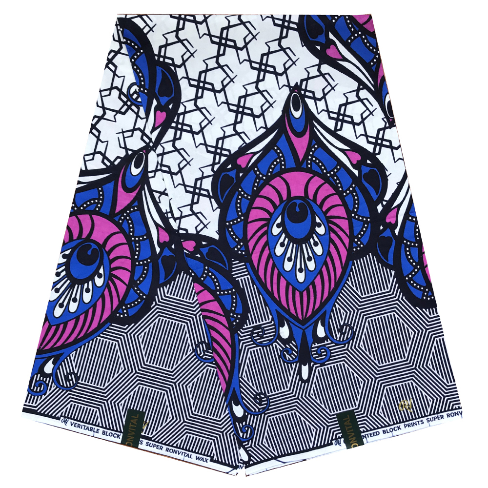Ankara Real Wax Prints Fabric Cotton Fabric High Quality African Fabric For Party Dress