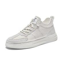 White Sneakers Casual-Shoes Walking-Footwear Genuine-Leather Luxury Brand Black Breathable