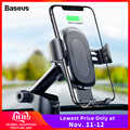 Baseus 10W cargador de coche inalámbrico para iPhone 11 Pro Xs Max Samsung S10 Note 10 Qi cargador inalámbrico soporte de teléfono de coche de carga rápida