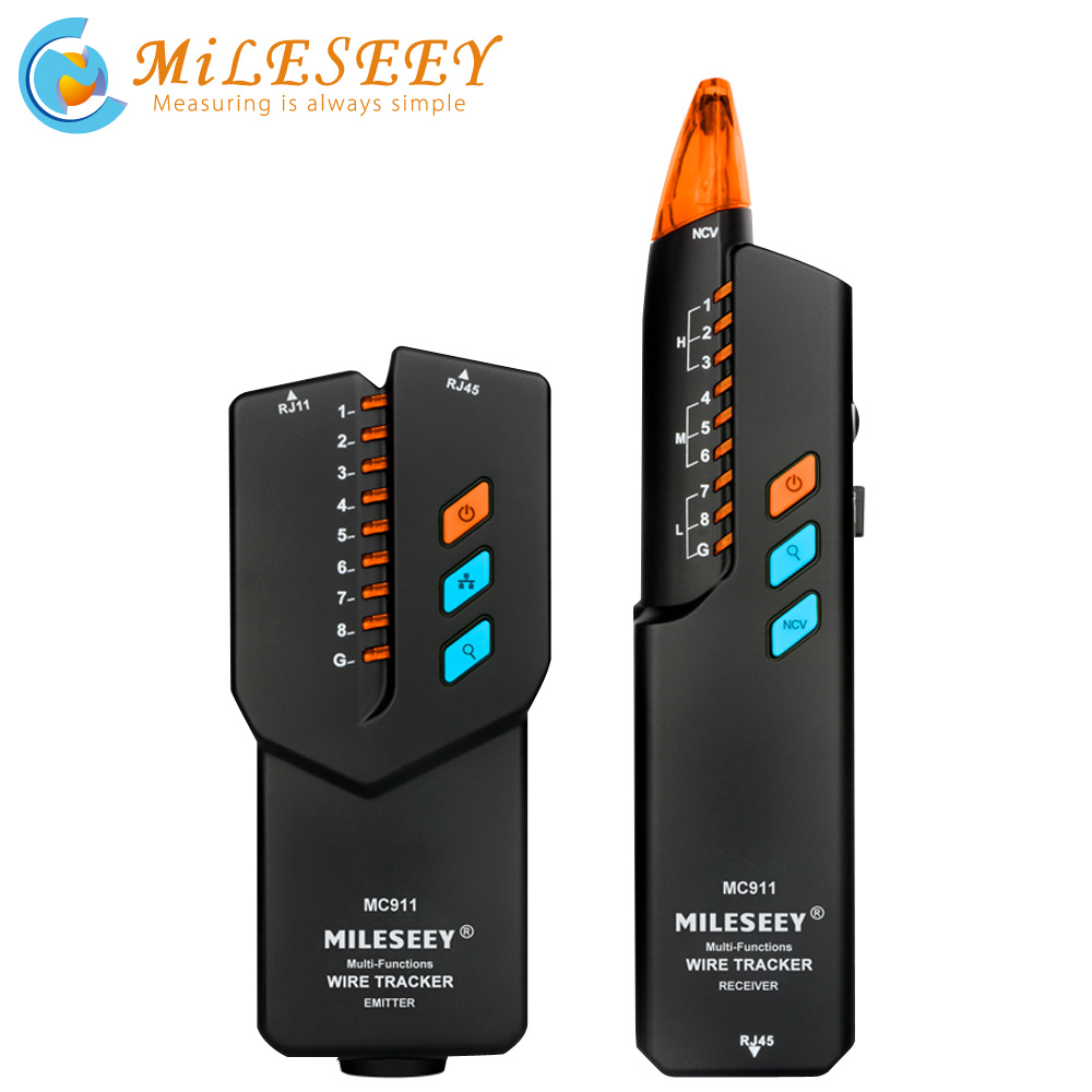 Mileseey Network Cable Tracker Tester MC911 Telefoon Wire Tracker Anti-Interferentie Toner Ethernet Lan Trace Netwerk Kabel