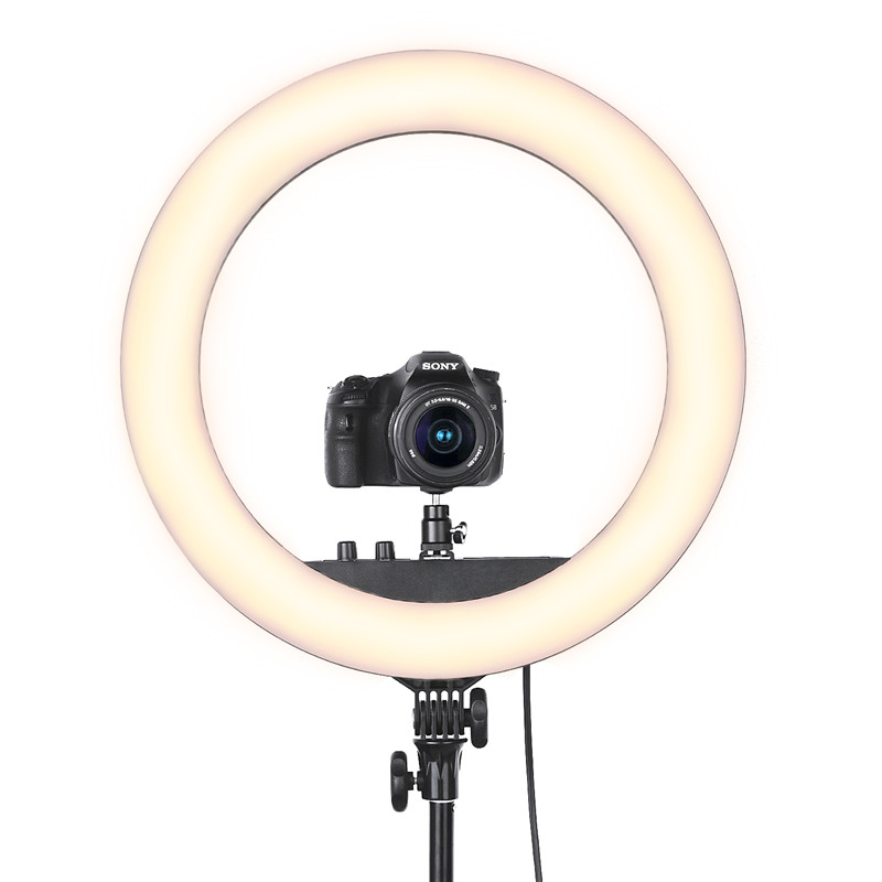 Image 5 - Fusitu RL 18II Dimmable Photographic light 3200 5600K 512 Led Ring Light Camera Photo Studio Phone Makeup Ring Lamp with Tripod-in Photographic Lighting from Consumer Electronics