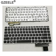 Teclado de laptop, acessórios para laptop inglês para hp elitebook folio 9470m 9470 9480 9480m 702843-001 eua teclado de prata