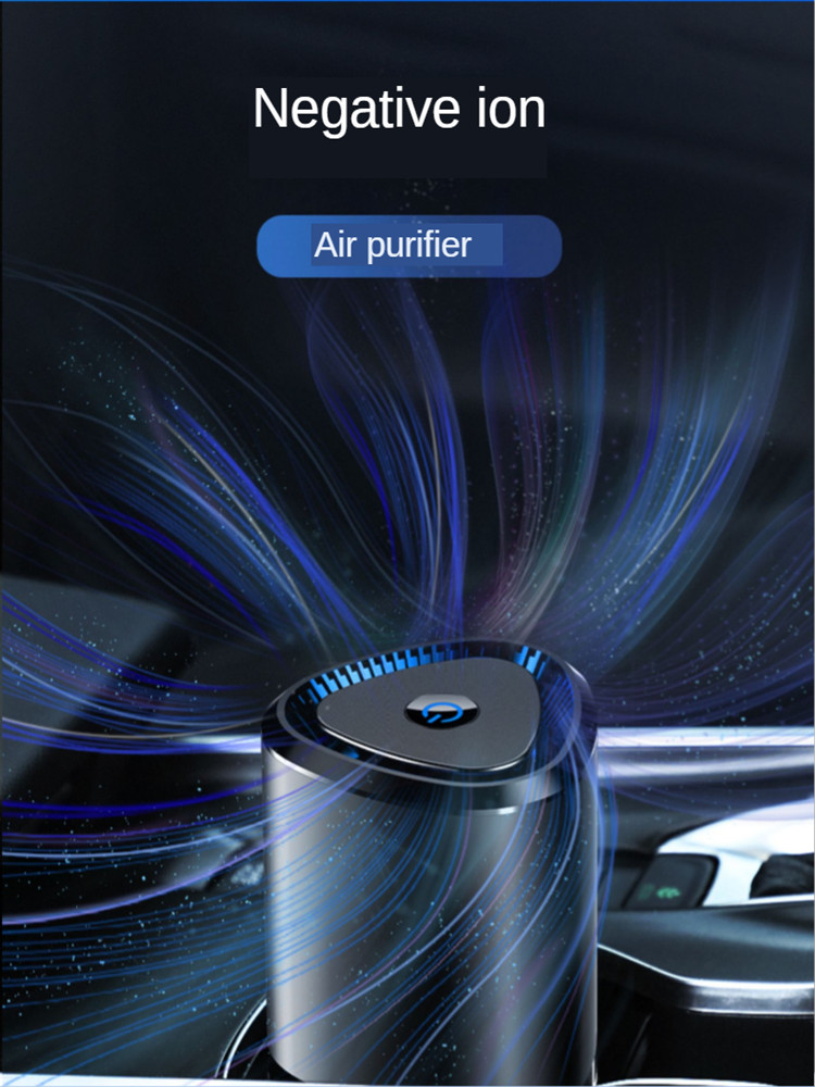 E FOUR 360° Car Air Purifier Ionizer 4 Stage Filtration Air Cleaner Anti Virus Captures PM2.5 Eliminate Allergens Odor Smell Car| |   - AliExpress