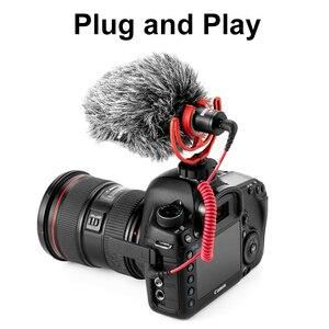 Image 4 - Оригинальный Встроенный микрофон Rode VideoMicro, микрофон для записи голоса и интервью для смартфонов Canon, Nikon, Sony
