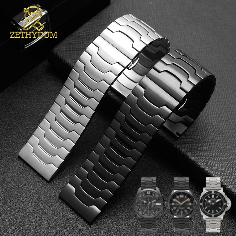 High Quality 316L Stainless Steel Bracelet 26mm Watchband Solid Metal Straps For Mens Watch Strap Steel Wristwatches Band