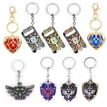 Zeldas jogo chaveiro a lenda de zeldas série respiração do selvagem cosplay acessórios chaveiro brinquedos para crianças presentes