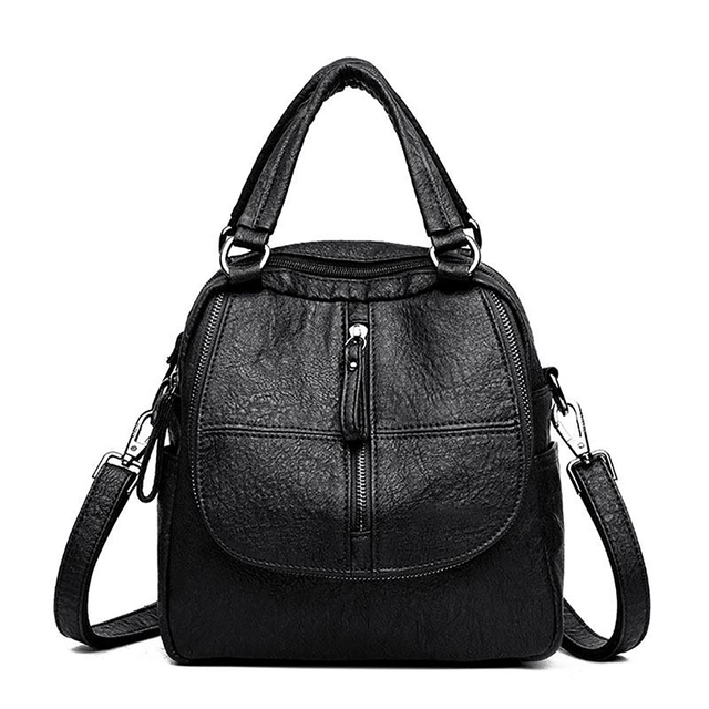 Backpack Women Backpack Mini Travel Bag Fashion Multi-Functional Women'S Large Capacity Backpack PU Leather Totes Purses 5