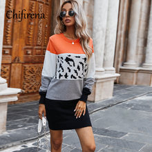 Винтажное платье свитер chifirena с леопардовым принтом в стиле